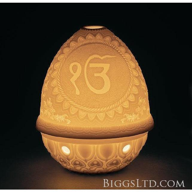 Lladro Ek & Khanda Lithophane Votive Light 01017371