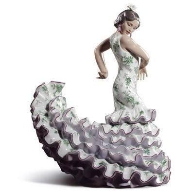 Lladro Flamenco Flair Green & Purple Figurine 01008766