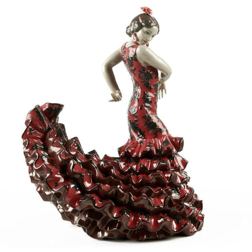 Lladro Flamenco Flair Red Figurine 01008765