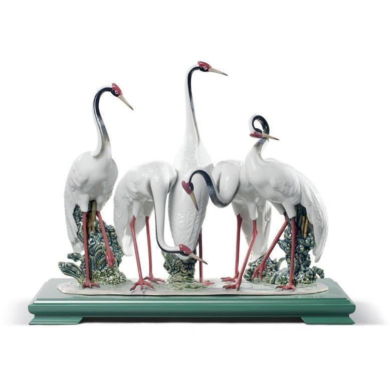 Lladro Flock Of Cranes Figurine 01008697