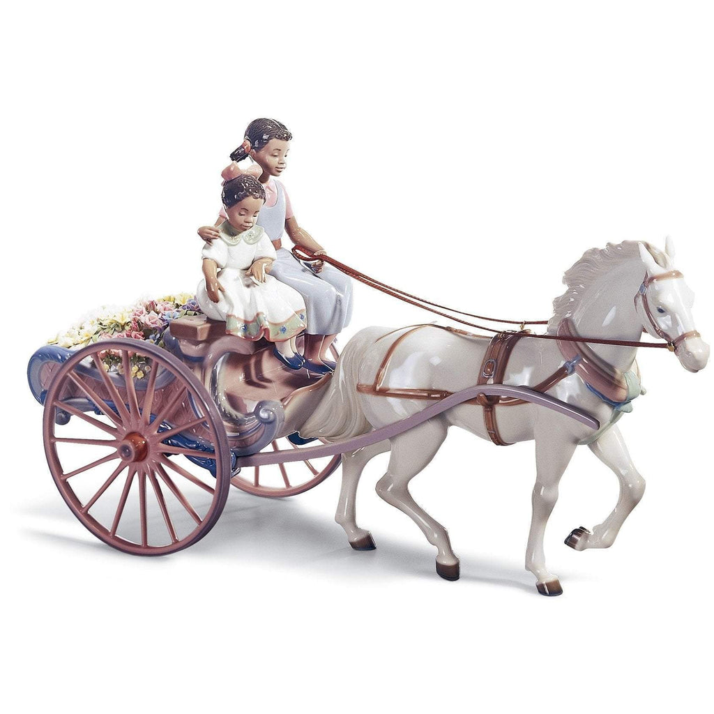Lladro Flower Wagon Figurine 01001784