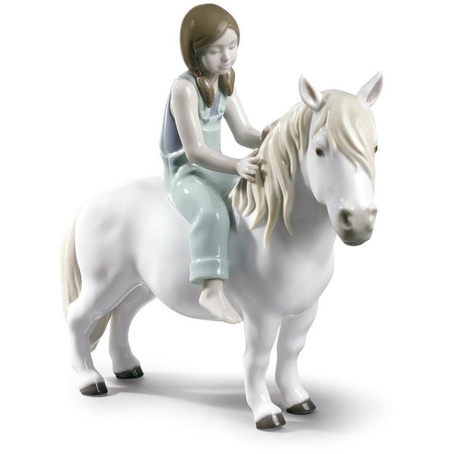 Lladro Girl With Pony Figurine 01009139
