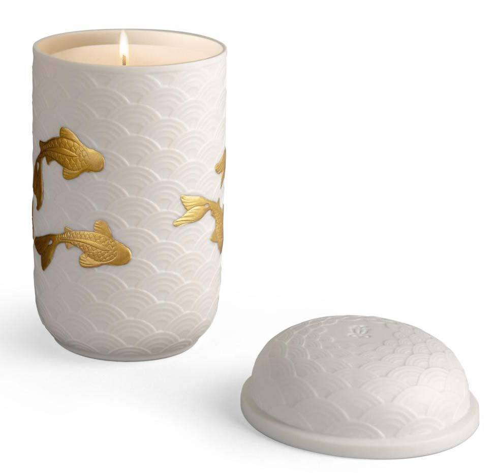 Lladro Golden Kois Candle 01040202