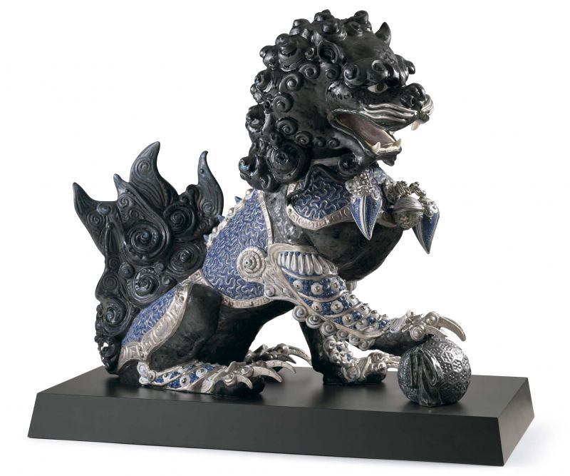 Lladro Guardian Lion Black Figurine 01001995