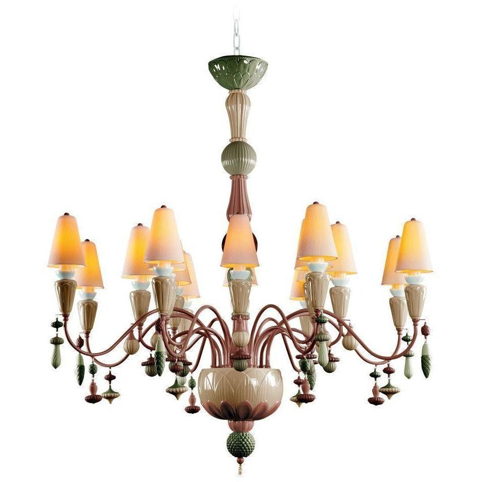 Lladro Ivy & Seed 16 Light Spices Chandelier 01023859