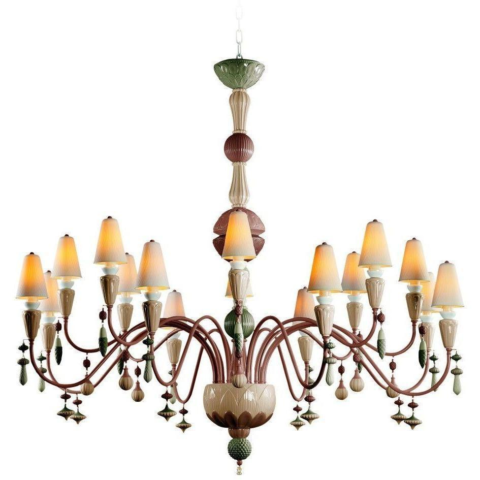 Lladro Ivy & Seed 16 Light Spices Chandelier 01023877