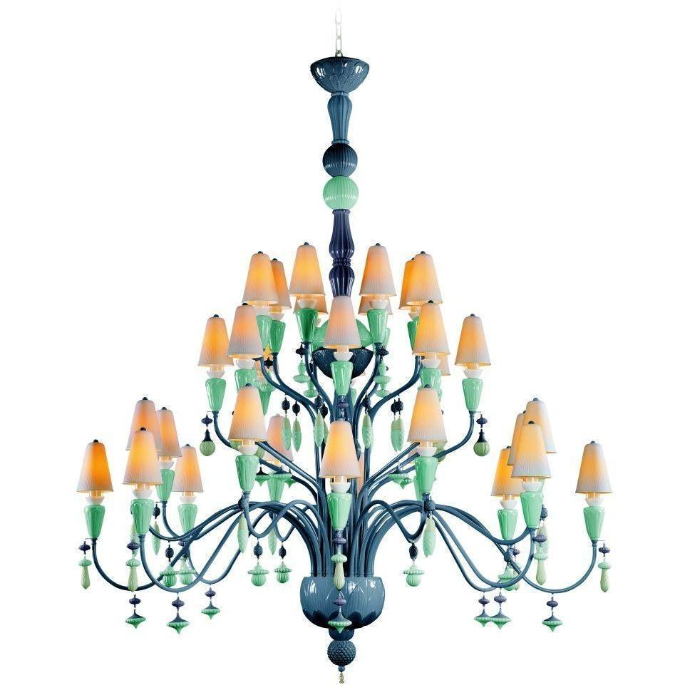 Lladro Ivy & Seed 32 Light Ocean Chandelier 01023847