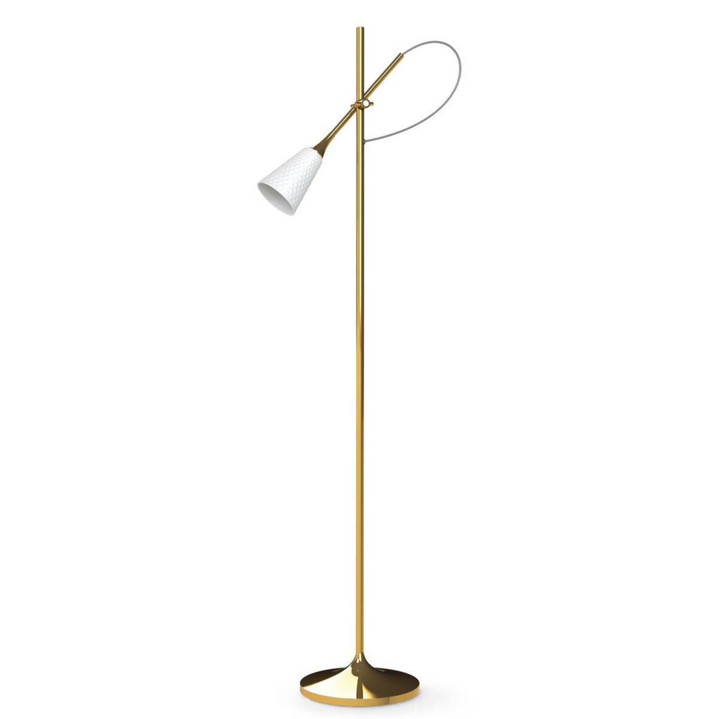 Lladro Jamz Floor Reading Lamp Gold 01024011