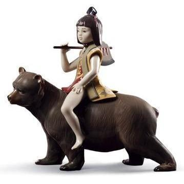 Lladro Kintaro And The Bear Figurine 01008687