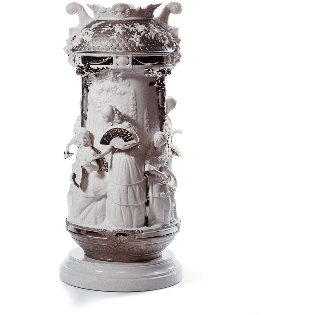 Lladro Ladies In The Garden Vase Platinum Re Deco 01007035