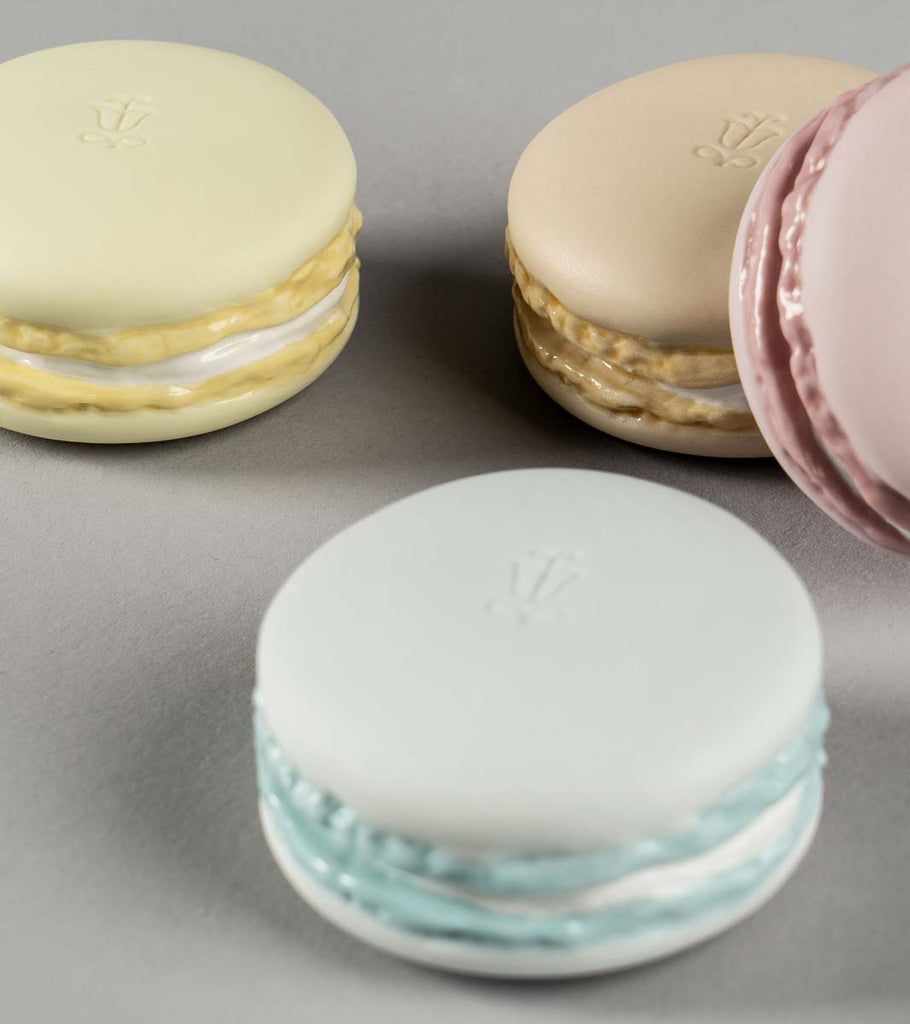 Lladro Macarons Figurine Cream Pink Blue & Yellow 01009407