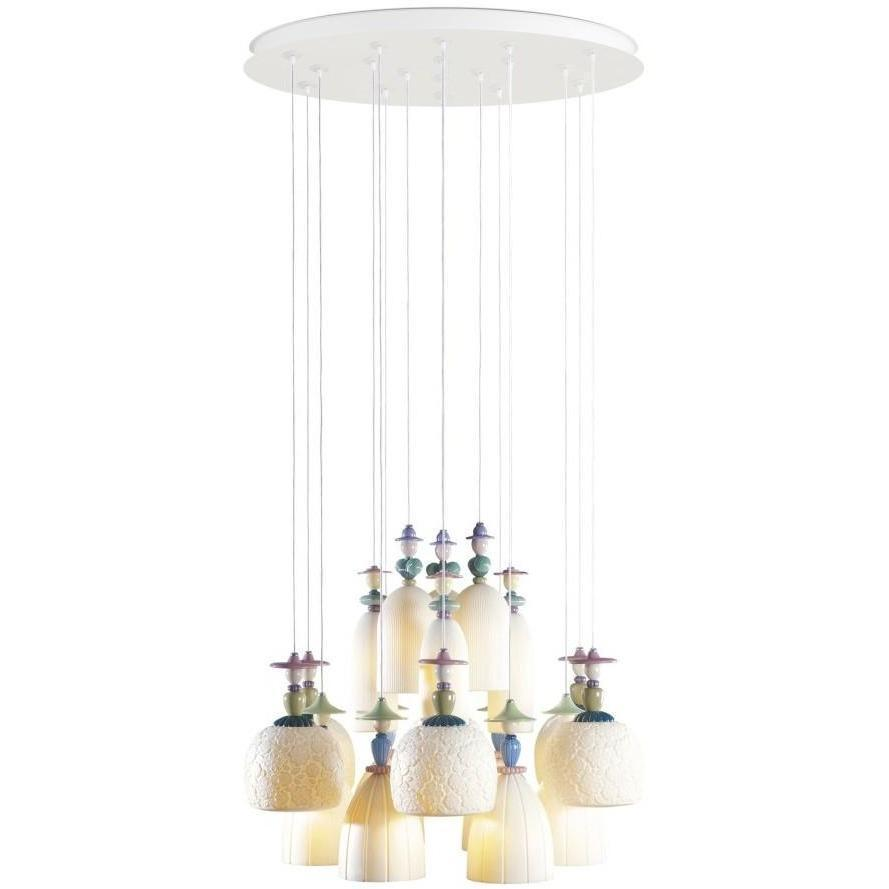 Lladro Mademoiselle Chandelier Medium 18 Light 01023546