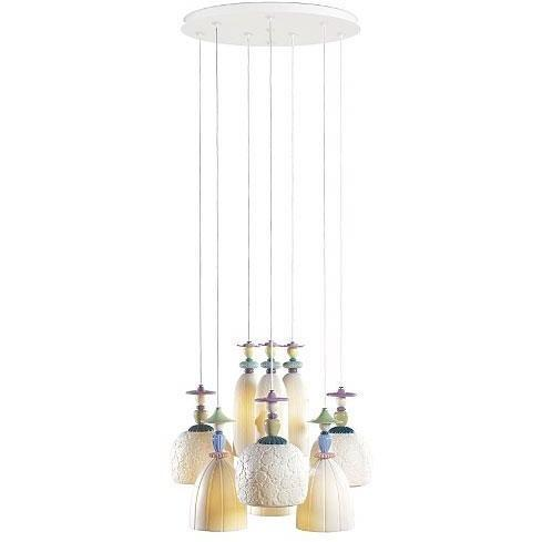 Lladro Mademoiselle Chandelier Medium 9 Light 01023543