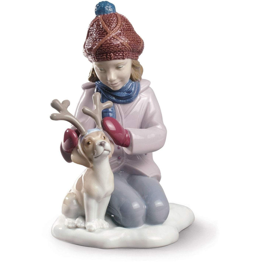 Lladro My Little Reindeer Figurine 01009130