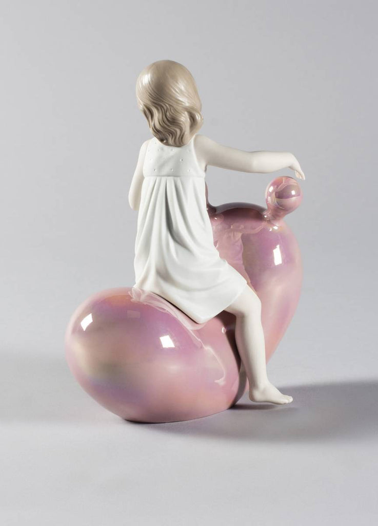 Lladro My Seesaw Balloon Girl Figurine Pink 01009367