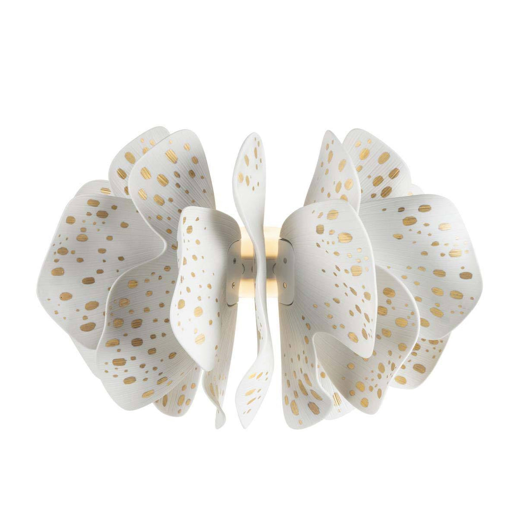 Lladro Nightbloom Wall Light White Gold 01024028