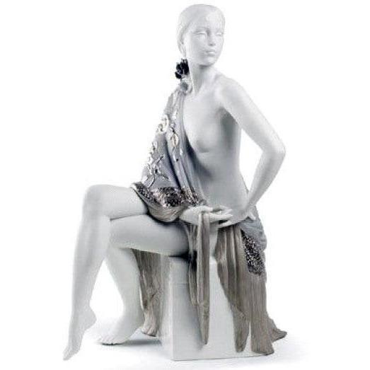 Lladro Nude With Shawl Re Deco Figurine 01008673
