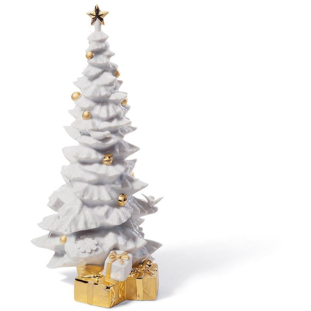 Lladro O Christmas Tree Re Deco Figurine 01007089