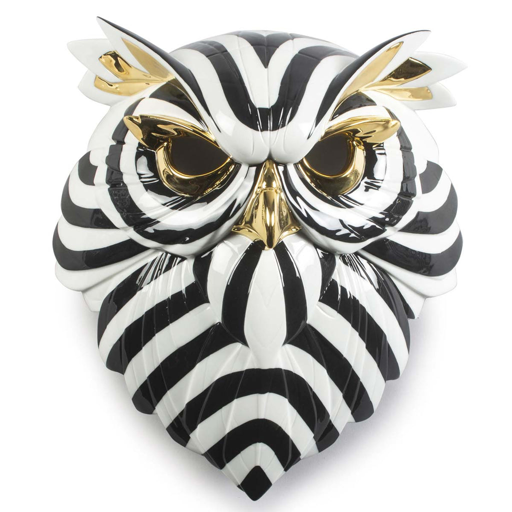 Lladro Owl Mask Black & Gold 01009406