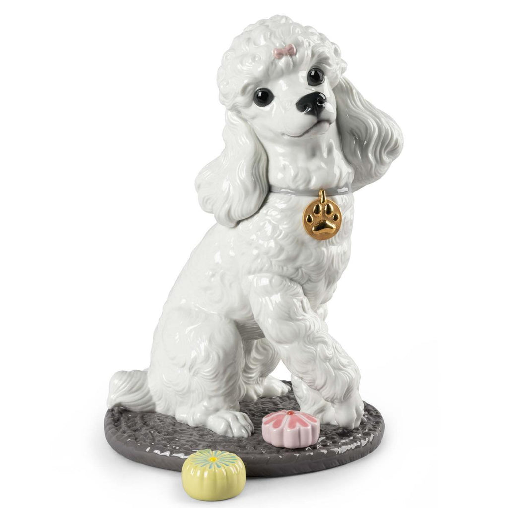 Lladro Poodle With Mochis Figurine 01009472