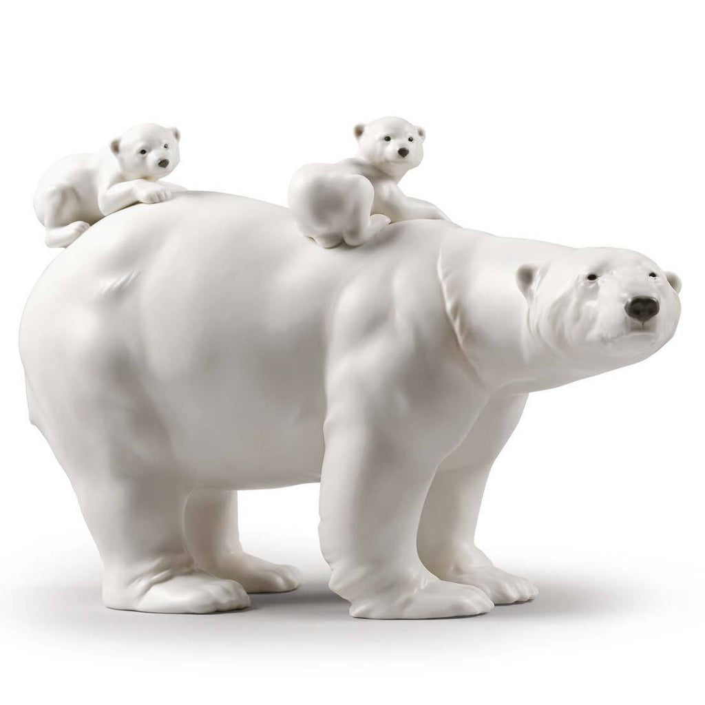 Lladro Mummy Bear And Babies Figurine 01009290