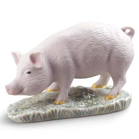Lladro The Pig-Mini Figurine 01009121
