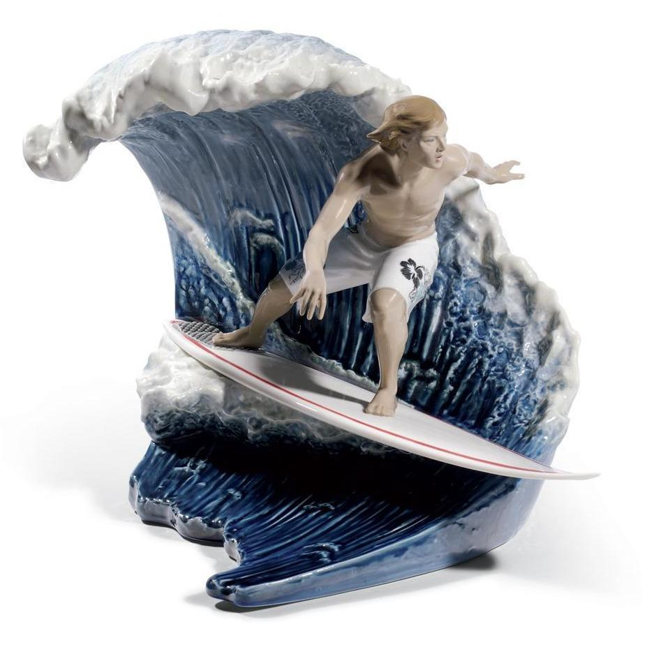 Lladro Riding the Big One Figurine 01008595