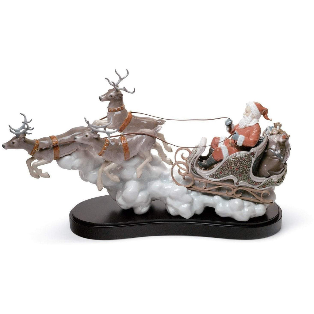 Lladro Santa's Midnight Ride Figurine 01001938