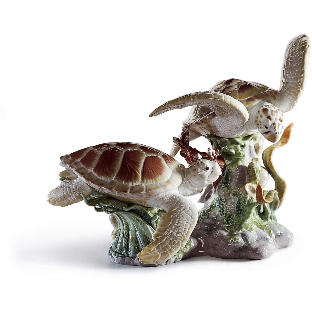 Lladro Sea Turtles Figurine 01006953
