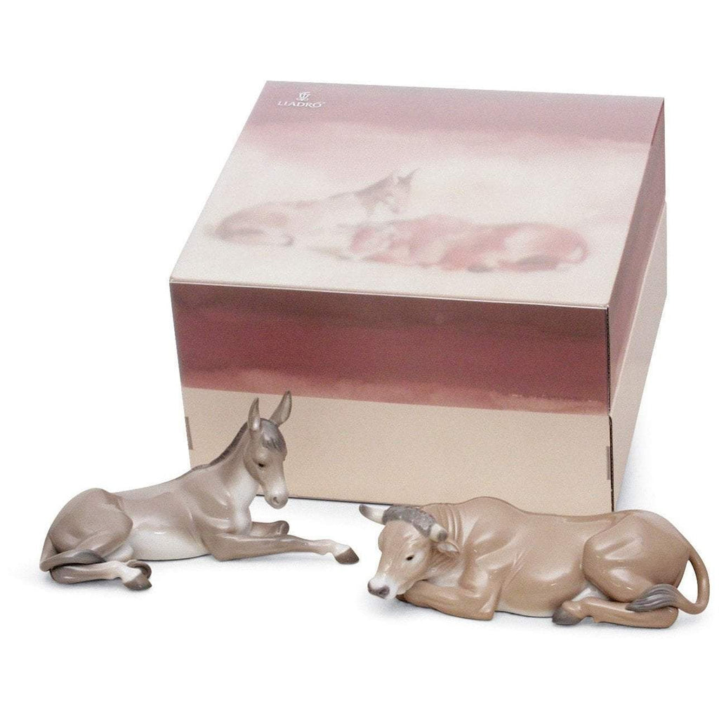 Lladro Set Animals At Bethlehem Porcelain 01007810