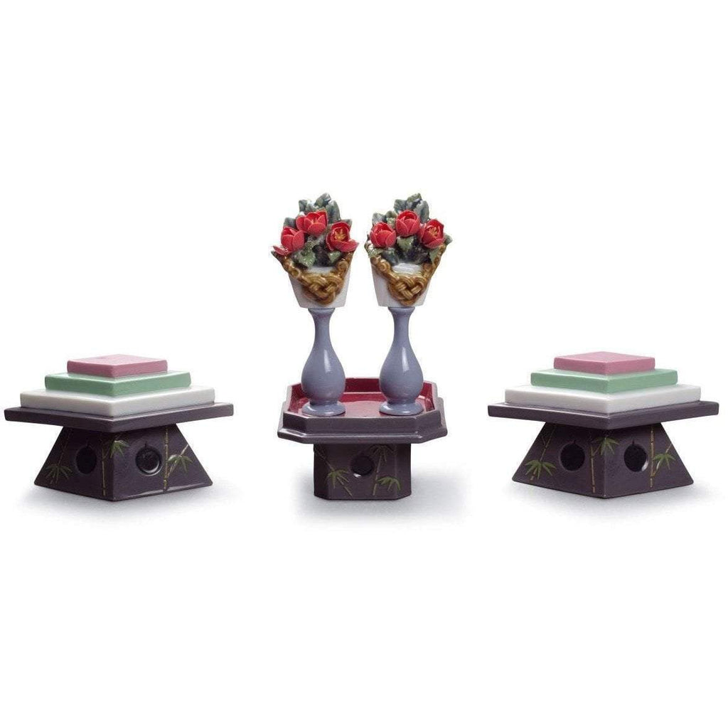 Lladro Tables For Sweets And Peach Flowers 01008774