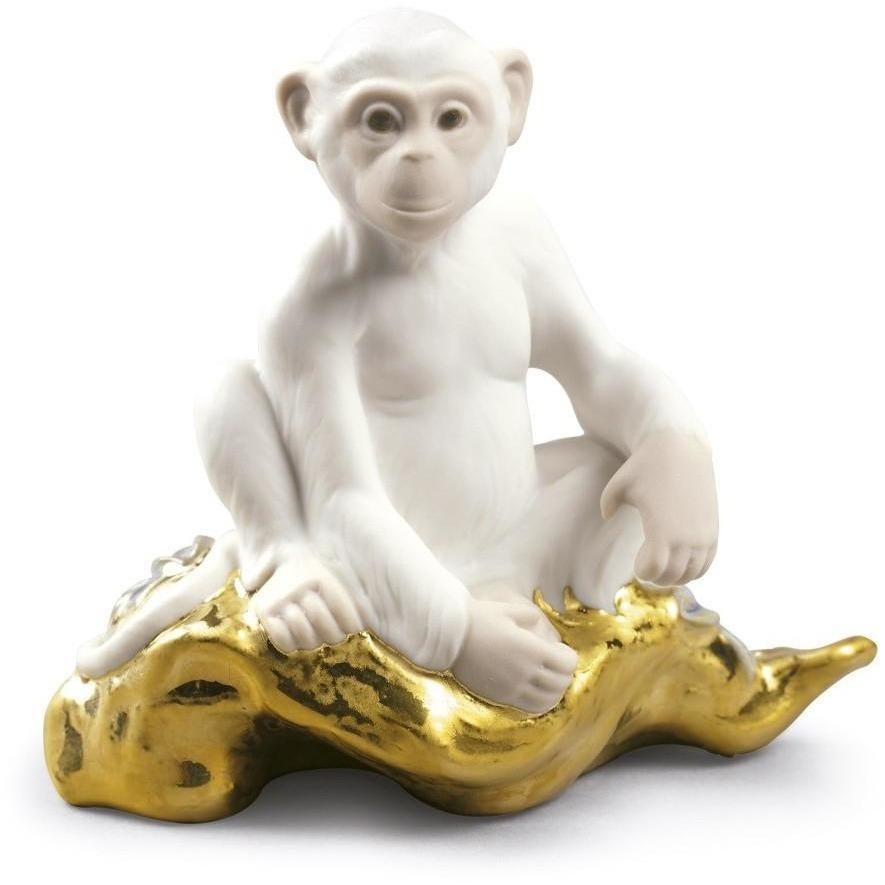 Lladro The Monkey Mini Zodiac Figurine 01009175