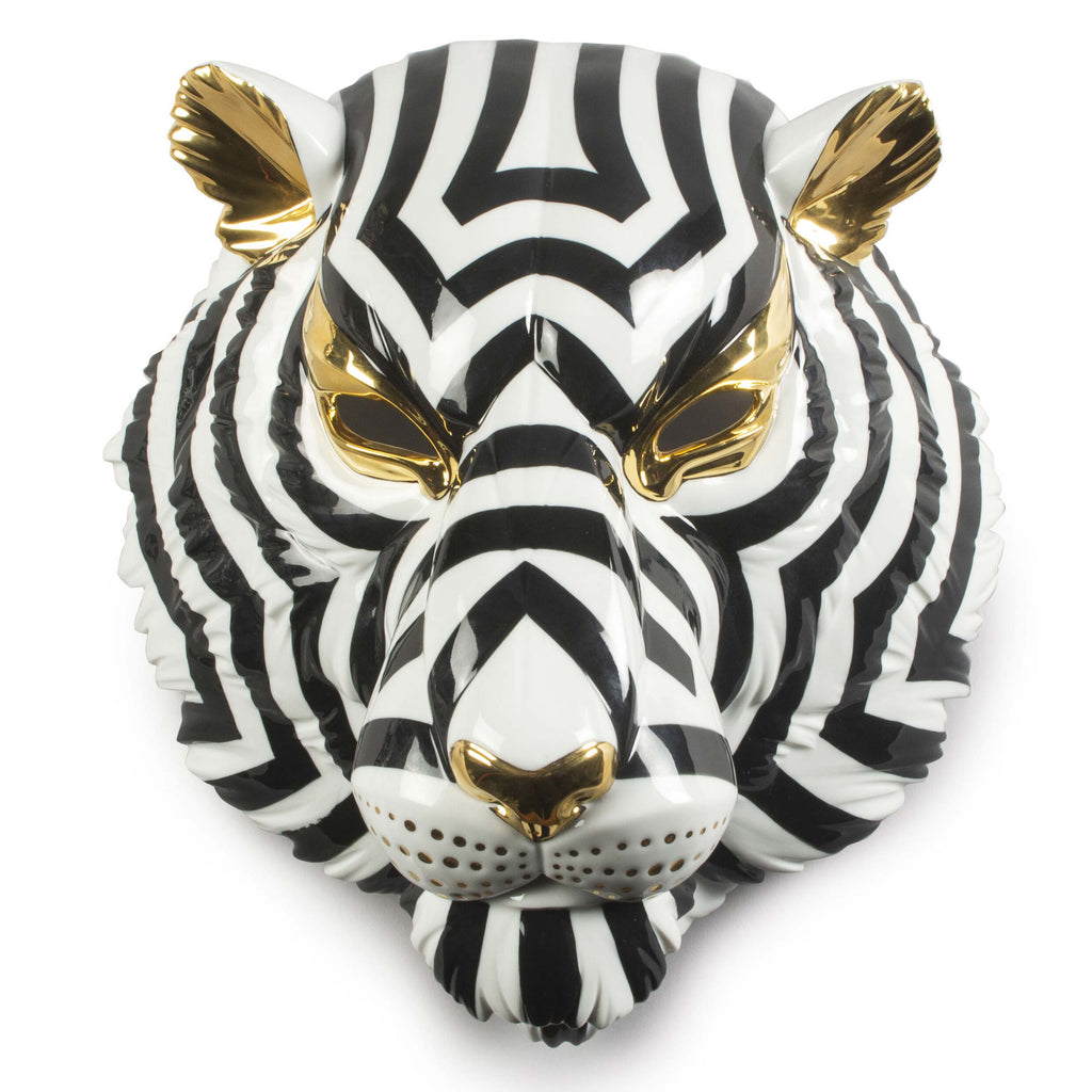 Lladro Tiger Mask Black & Gold 01009404
