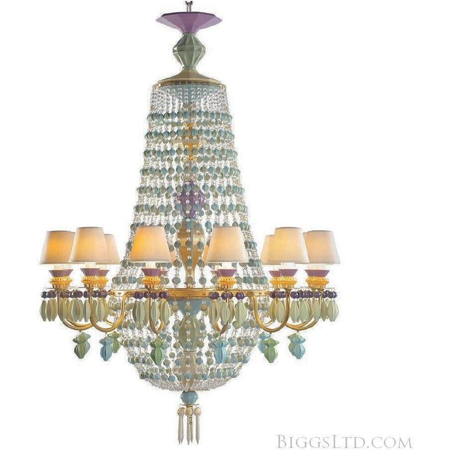 Lladro Winter Palace Chandelier 12 Light Cote D'Azur 01023525