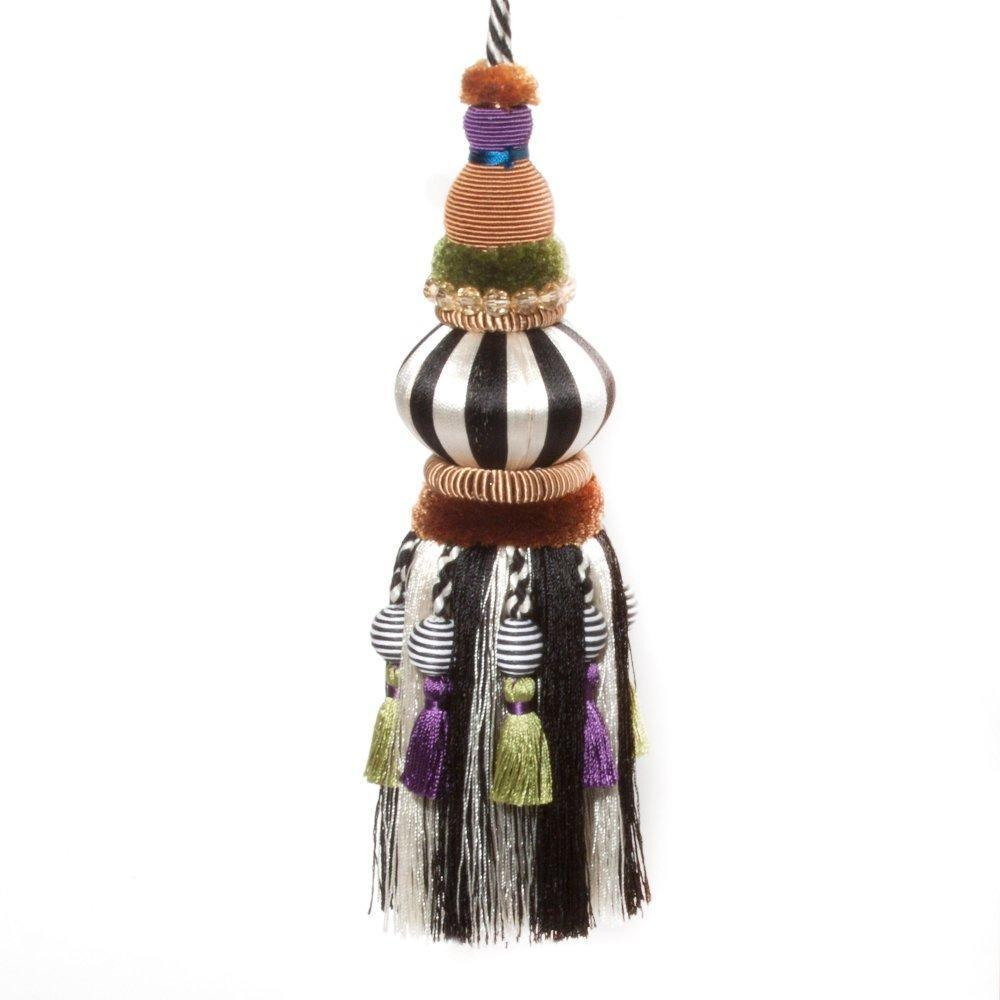 MacKenzie Childs Bibelot Tassel Black & White