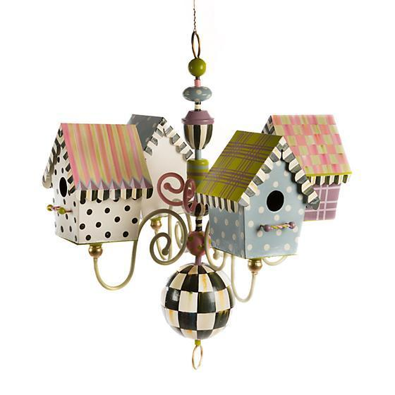 MacKenzie-Childs Birdhouse Chandelier