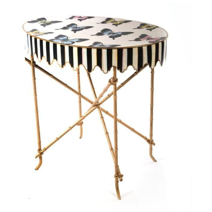 MacKenzie-Childs Butterfly Side Table