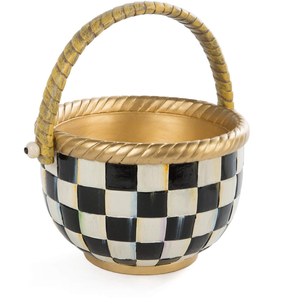 MacKenzie Childs Courlty Check Basket Large
