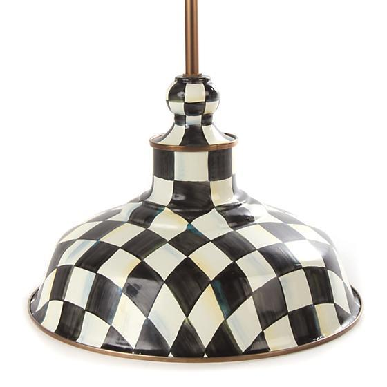 "MacKenzie-Childs Courtly Check 12"" Barn Pendant Lamp"