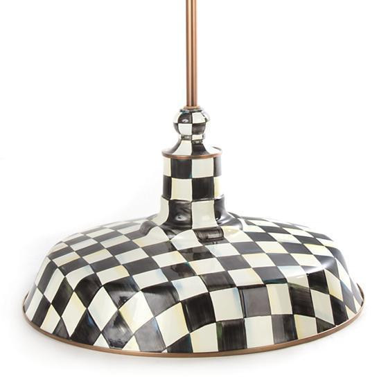 "MacKenzie-Childs Courtly Check 18"" Barn Pendant Lamp"