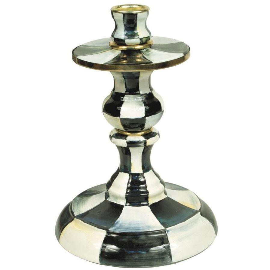 MacKenzie Childs Courtly Check Candlestick Small