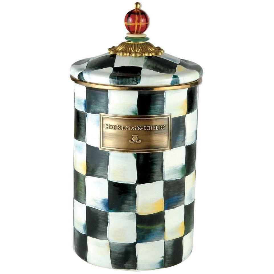 MacKenzie Childs Courtly Check Canister Large