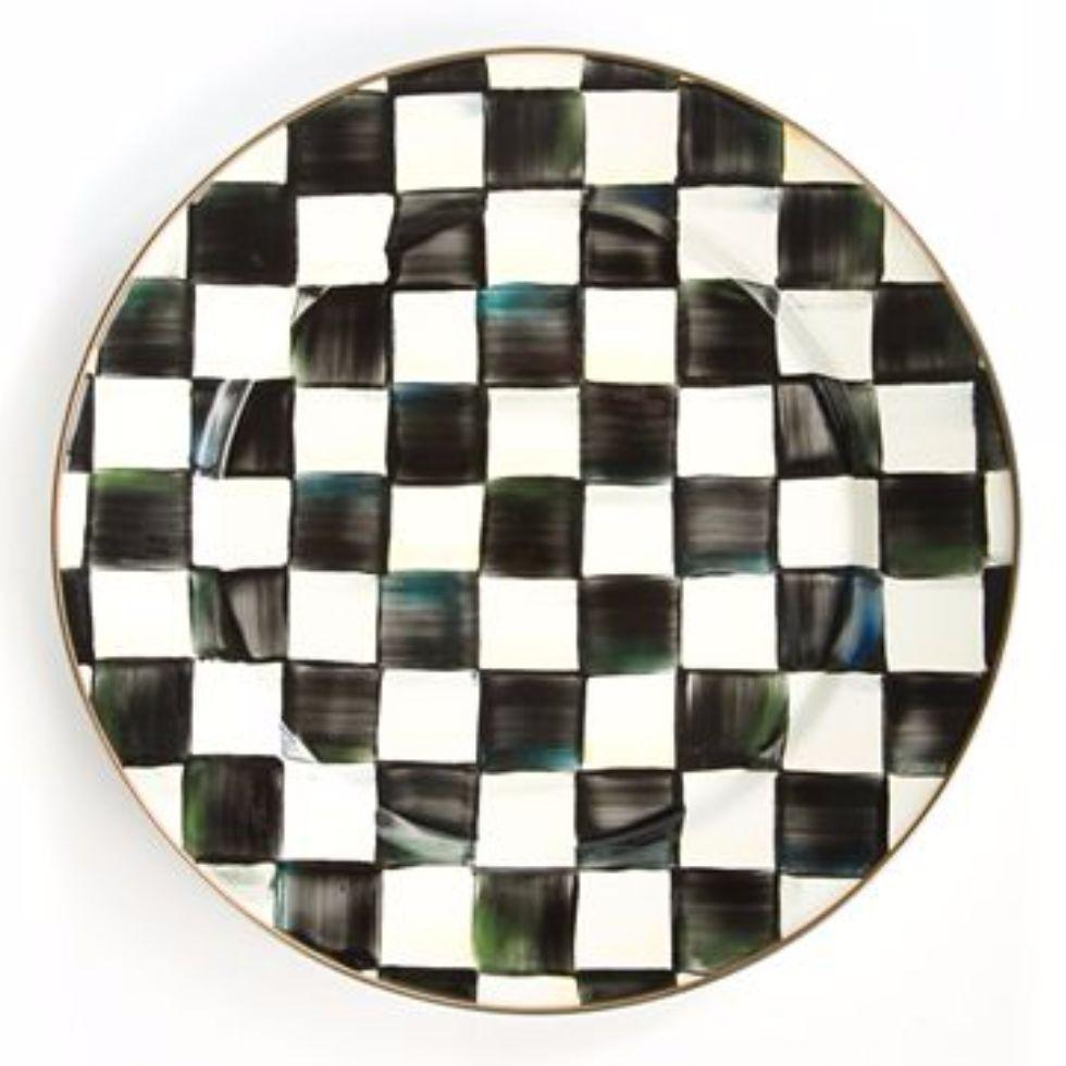 MacKenzie Childs Courtly Check Charger Plate
