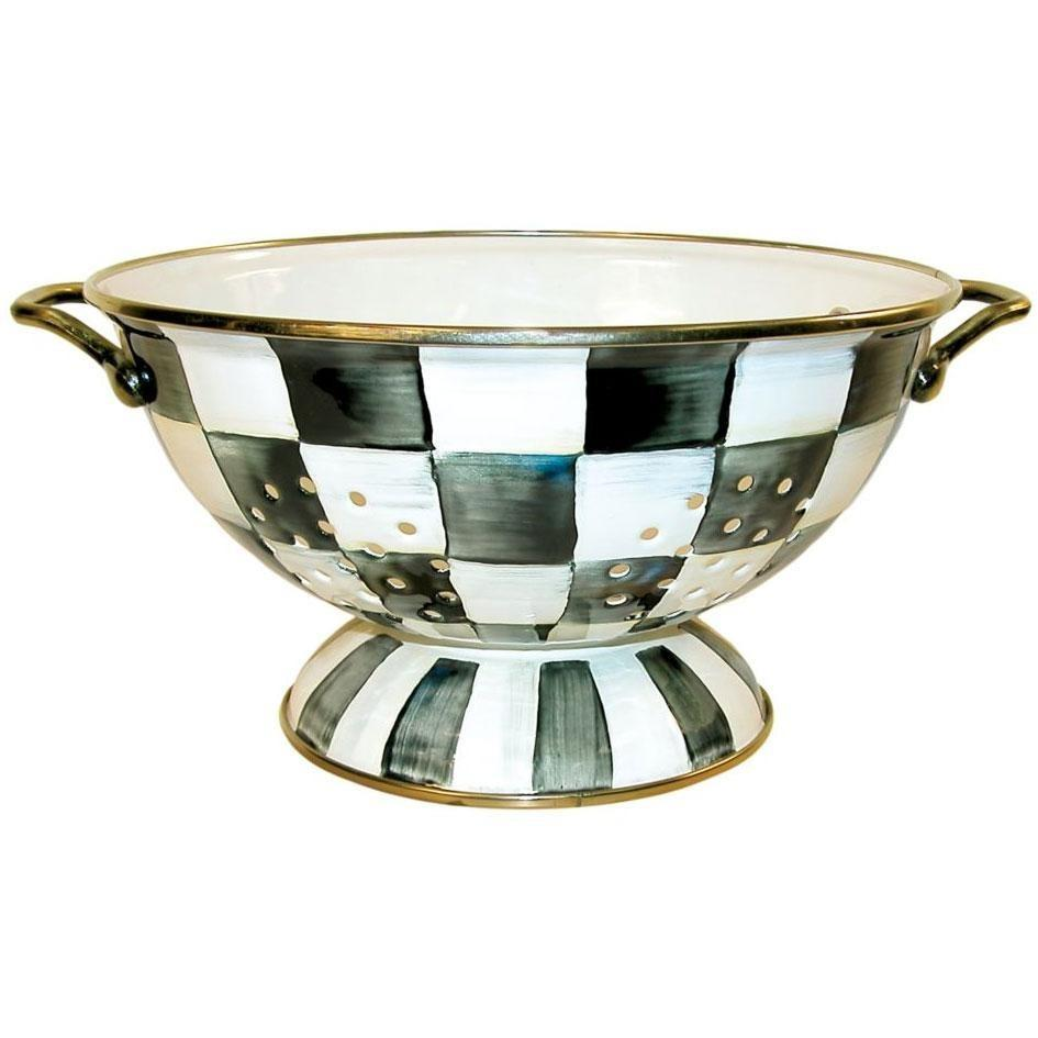 MacKenzie Childs Courtly Check Colander Large
