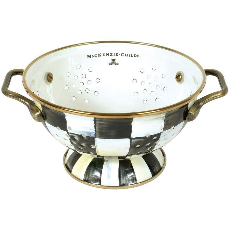 MacKenzie Childs Courtly Check Colander Small