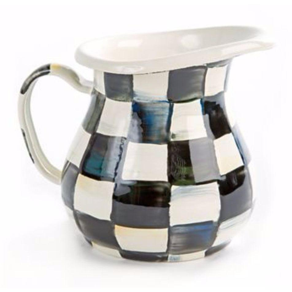 MacKenzie Childs Courtly Check Creamer
