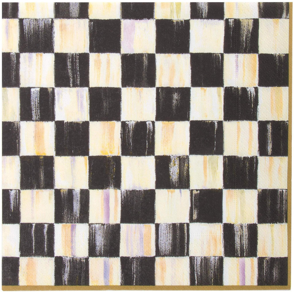 MacKenzie Childs Courtly Check Dinner Napkins