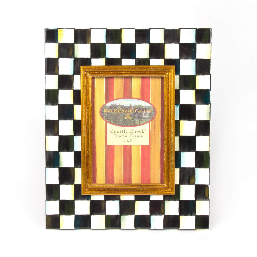 MacKenzie Childs Courtly Check Enamel Frame - 4