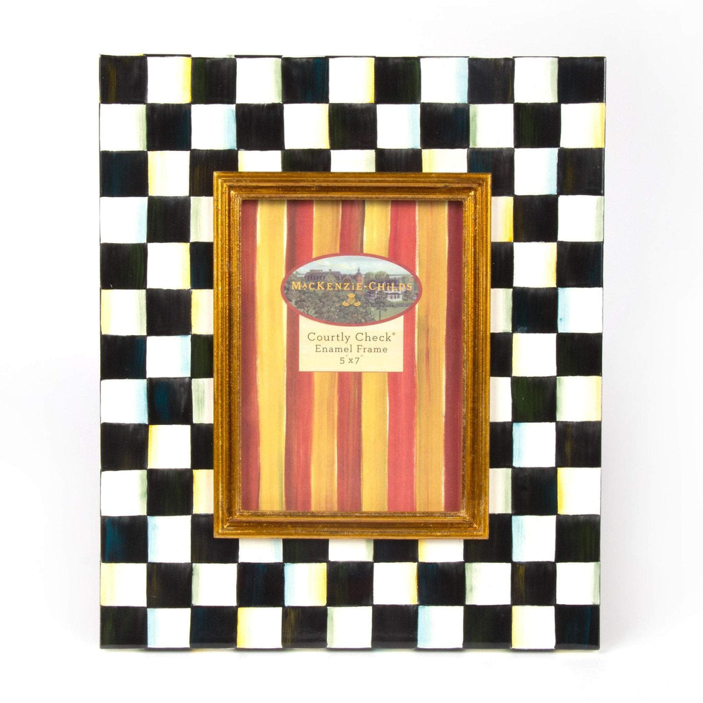 MacKenzie Childs Courtly Check Enamel Frame - 5