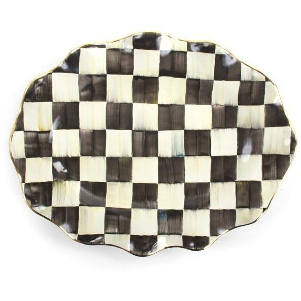 MacKenzie Childs Courtly Check Large Serving Plate